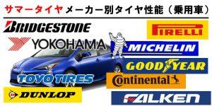 メーカー別タイヤ性能(普通車)